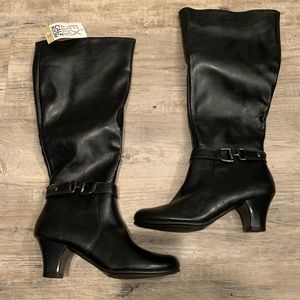 Aerosoles Tall Black Boots -wide calf extension